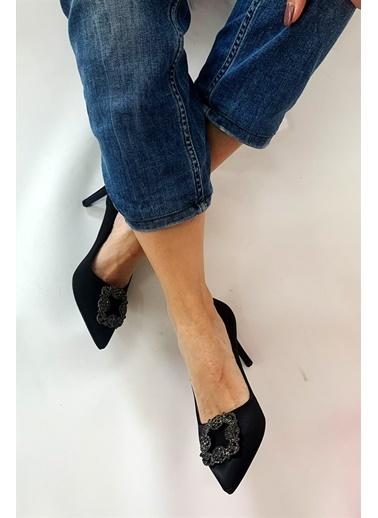 La scada Mr2993 Sıyah Kadın Topuklu Ayakkabı Siyah